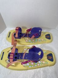 Little Bear Grizzly Snowshoes for kids Yellow Purple Pink Adjustable Winter Fun $28.99