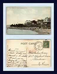 RHODE ISLAND SAUNDERSTOWN POSTED 1910 TO DELIA HERN PROVIDENCE $19.99