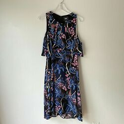 Maeve Floral Dress Cold Shoulder 6 Bohemian Anthropologie Party Ruffle $25.00