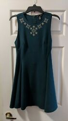 Bloomingdale#x27;s Aqua Brand Fit amp; Flare Mini Dress Sz M; Sparkly Party Dress $10.00