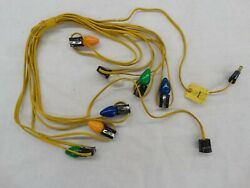 Vintage 7 light Christmas Tree C7 Light Set All Yellow Wire With Branch Clips $19.85
