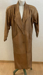 Leather Coat SMALL S 8 Maxi EXPRESS Womens Lined Boho Hippie Bohemian Button $39.99
