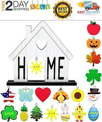 Home Interchangeable Decorative Sign Wooden Decorative Home Signs $32.99