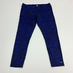 C9 Champion Pants Womens Size XXL Blue Straight Leg Active Athletic Duo Dry $18.95