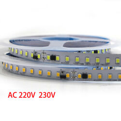 5m LED Strip With IC 2835 SMD AC 220V 230V non Waterproof Commercial Rope Light