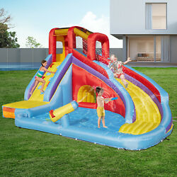 Water Spray Inflatable Bounce House Kids Jumper Castle Slide with Blower Safety $399.99