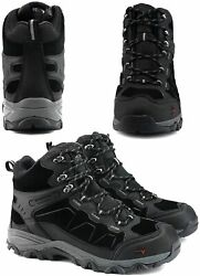 NORTIV 8 Men#x27;s Waterproof Hiking Boots Outdoor Mid Trekking Black Size 8.5 QYw $45.60