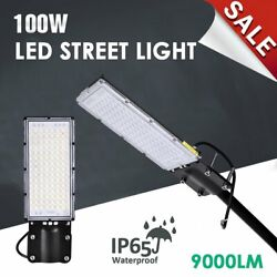 9000LM LED Street Light 100W Outdoor Commercial Street Waterproof Lighting USA