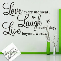 Removable Wall Sticker Quote Words Love Butterfly Decal Room Home Wall Decor US $6.70