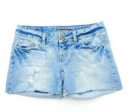 American Eagle Womens Cut Off Destroyed Jean Shorts Size 0 $9.25