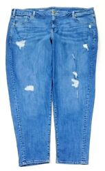 Lane Bryant Womens Low Rise Boyfriend Jeans Plus Size 24 R $14.95