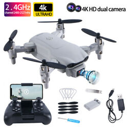 2021 Mini RC Drone 4k HD Camera WIFI FPV Drone Dual Camera Quadcopter For Child $38.99