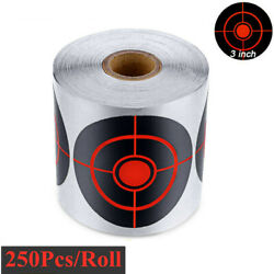 250Pcs 1 Roll Self Adhesive Paper Target Reactive Splatter Shooting Stickers NEW $20.66