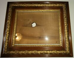 Beautiful Large Victorian Antique Vintage Gesso And Oak Wood Frame $122.00