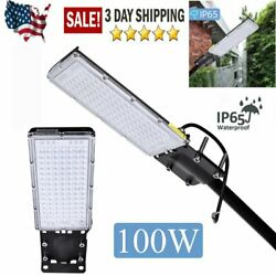 9000LM LED Street Light 100W Outdoor Commercial Street Waterproof Lighting US