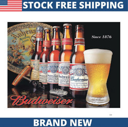 BUD History of Bud Vintage Classic Decor Metal Tin Sign New 16quot; W x 12.5quot; H $14.99