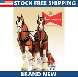 Bud Clydesdale Team Vintage Classic Decor Metal Tin Sign New 12.5quot; W x 16quot; H $14.99