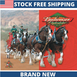 Budweiser Clydesdales Vintage Classic Decor Metal Tin Sign New 16quot; W x 12.5quot; H $14.99