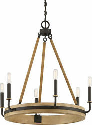 Quoizel KEA5025 Kearney 6 Light 26quot;W Ring Chandelier Bronze $449.99
