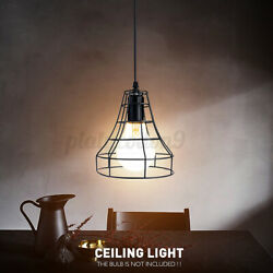 Retro Industrial Pendant Light Vintage Ceiling Lamp Shade Cafe Hanging Fixture $19.79