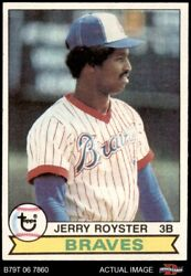 1979 Topps #344 Jerry Royster Braves 6 EX MT $5.50