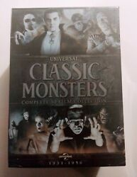 NEW UNIVERSAL CLASSIC MONSTERS. COMPLETE 30 FILM COLLECTION. 21 DVDS. FREE SHIP $54.95