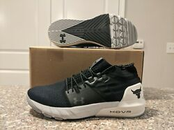 Under Armour UA PROJECT ROCK 2 Black White Training Shoes SZ 12 Men 3022024 001 $100.00