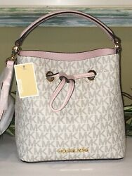 MICHAEL KORS SURI MINI SMALL BUCKET CROSSBODY SHOULDER VANILLA SIGNATURE PINK