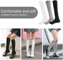3 Pairs Girls#x27; Knee High Socks Cable Knit 10 16 Years Cream White Size 0.0 wAN $9.99