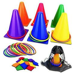 31PCS 3 in 1 Carnival Outdoor Games Combo Set for Kids Soft Plastic Cones $29.38