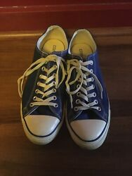 Converse All Star Mens Size 10 Womens 12 Blue Sneakers $12.99