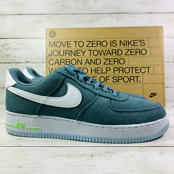 Nike Air Force 1 '07 Low Mens Size 11 Ozone Blue Recycled Canvas CN0866 001 New $109.99