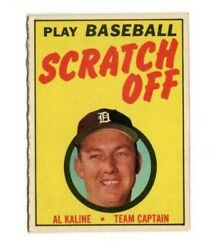 1970 Topps Baseball Scratch Off Al Kaline Red Interior Unscratched $25.99