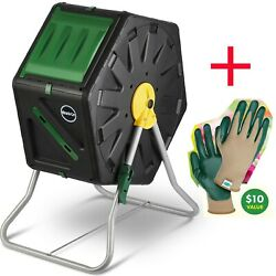 Miracle Gro Single Chamber Outdoor Garden Composter 18.5gal 70L with Gloves $95.50