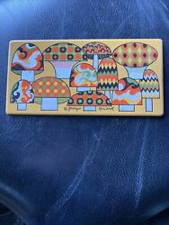 MID CENTURY GEORGES BRIARD LONG MUSHROOM ENAMEL METAL TILE TRIVET COASTER $12.00
