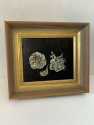 Garlic Painting Still Art Professionally Framed Kitchen Wall Art Ingredient $49.00