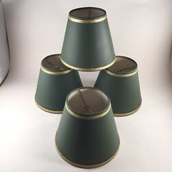 VTG 4 Small Lamp Chandelier Shades Clip On 4 3 4quot; Tall 6 1 8quot; Diam Mid Century $29.99
