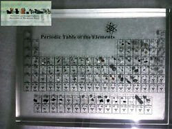Periodic Table of Elements Acrylic Display With Real Embedded Elements Teaching $139.00