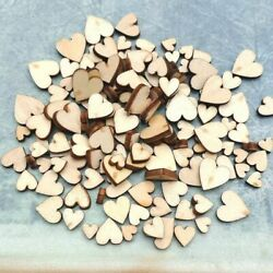 Rustic DIY Table Scatter Wooden Love Heart Wedding Decor Crafts Accessories $6.28