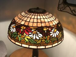 """16"""" Tiffany Pointsettia Reproduction Stained Glass Lampshade $775.00"""