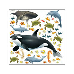 1Pc Marine Life Wall Sticker Home Decor Wall Sticker Whale Decal for Decor Home $9.94