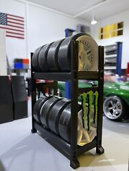1 10 scale tire holder rc accessories garage diorama monster energy $20.00