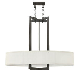 Hinkley Lighting 3208 4 Light 1 Tier Drum Chandelier Bronze $1219.00