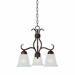 Maxim 10122FT Basix 3 Light 19quot;W Mini Chandelier Bronze $108.80