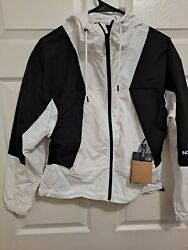 The North Face Peril Wind Jacket Coat Womens x Small White Black Full Zip NWT $79.99