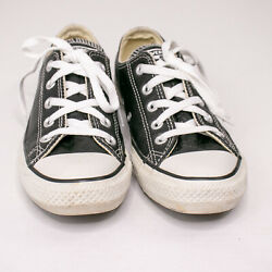 Converse Chuck Taylor ALL STAR Leather Sneakers Black Women#x27;s Size 6 Mens 4 $19.95