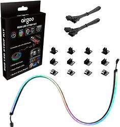 NEON RGB LED Strip PC Compatible Aura Motherboard Strong Magnetic Brackets Best $35.64