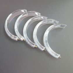 5 Acrylic Lucite Chandelier CURVED PRISMS 6 inch Long x 3 inch curve set screw $24.95