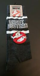 New GHOSTBUSTERS Mens Novelty Crew Socks Size 10 13 Great For HALLOWEEN $8.00