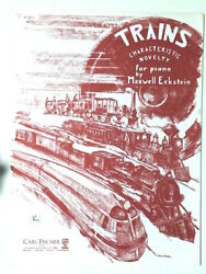 Trains Characteristic Novelty for Piano by Maxwell Eckstein 1936 $5.75